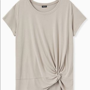 Torrid Taupe Side Knot Tee. Size 1.